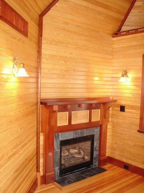 Cape cod fireplace mantel