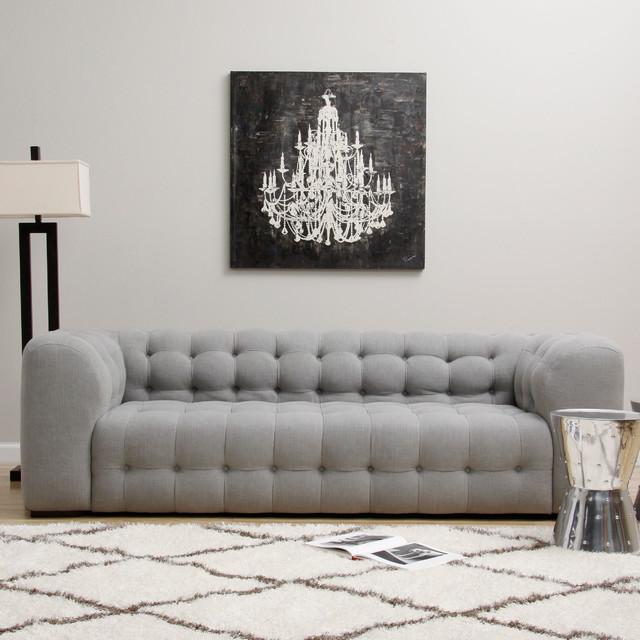 Sackville Nova Steel Linen Sofa - Contemporary - Sofas - by Overstock.com