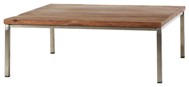 Table basse en bois de palissandre 90x90 nova industrial for Table basse palissandre