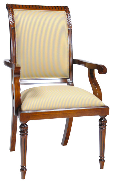 Tall Back Upholstered Arm Chair Traditional Armchairs