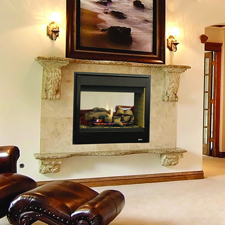 Superior Drt35st Direct Vent See Through Gas Fireplace