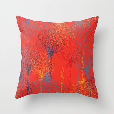Modern Graphic Pillows : Graphic Splash Throw Pillow - Modern - Decorative Cushions - toronto - by Paula Lukey Design