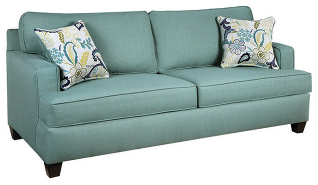 Chelsea Odessa Sofa Stallion Turquoise Transitional Sofas By Beyond Stores