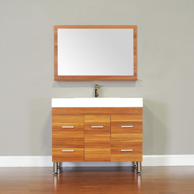 Alya bath at 8041 c 39 single modern bathroom vanity cherry modern bathroom vanities and for Modern bathroom vanities for less