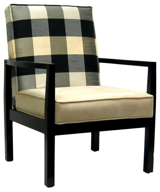 Stratford upholstered occasional living room armchair anna for Modern living room accent chairs