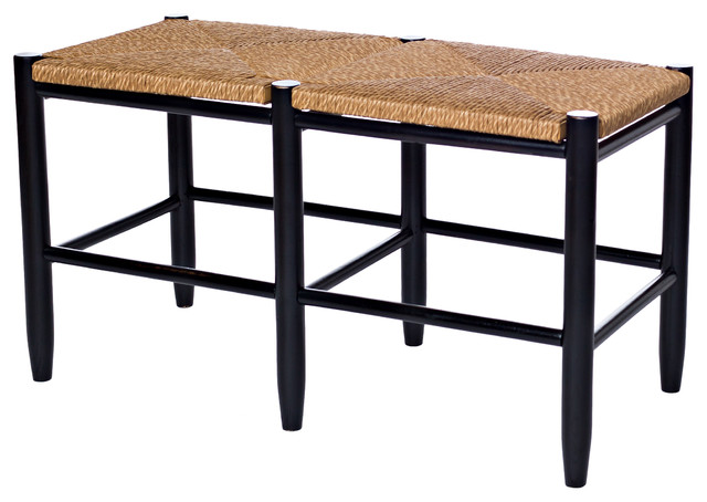 South Port Entry Bench Black Farmhouse Accent And