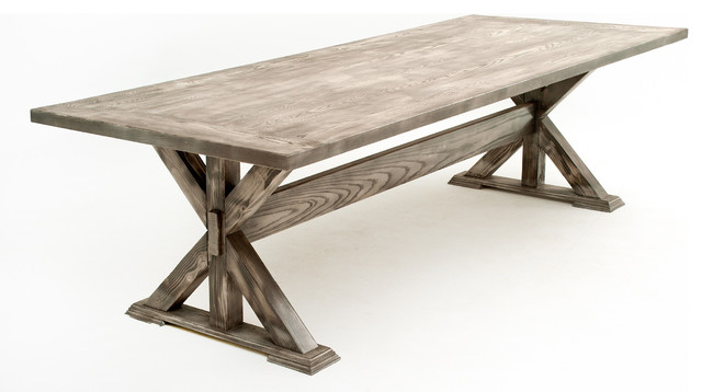 wooden trestle tables 1