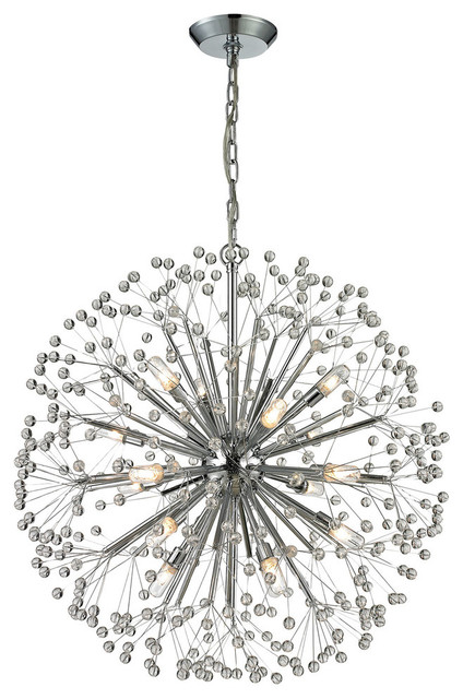 Starburst Chandelier In Polished Chrome Contemporary Chandeliers By Elk Group International