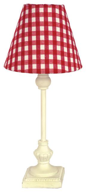 Lampe vichy rouge moderne lampe poser par interior 39 s - Lampe moderne een poser ...