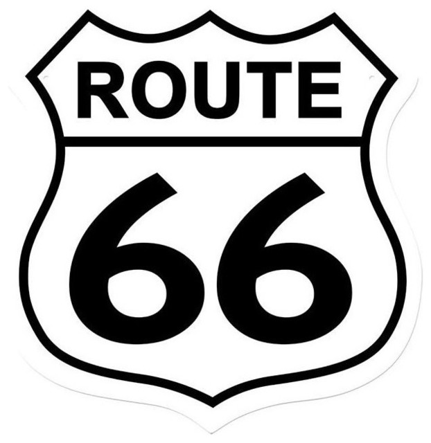 Route 66 Vintage Metal Sign Modern Home Decor By Man