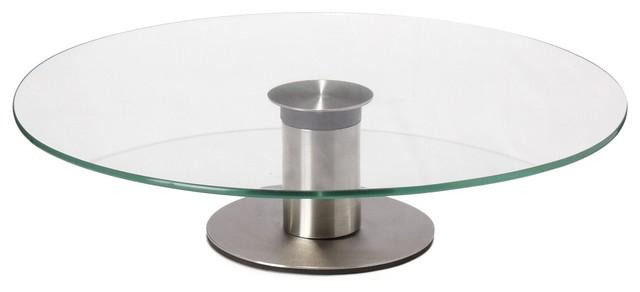 Table basse cake serviteur plateau en verre 1 tage d30cm modern coff - Deco table basse en verre ...