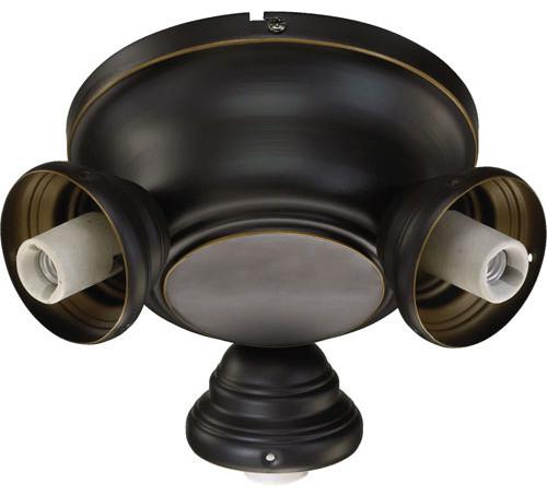 Salon Old World Three Arm Ceiling Fan Light Kit Mounting