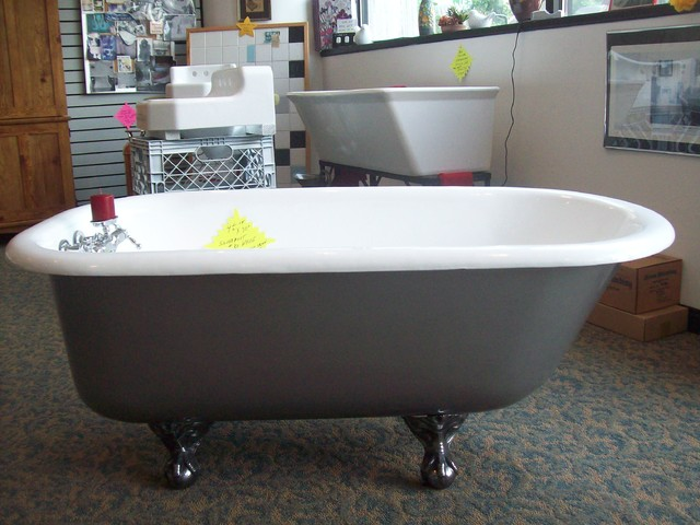 Refinishing of antique clawfoot castiron tub traditional for Porcelain bathtubs for sale