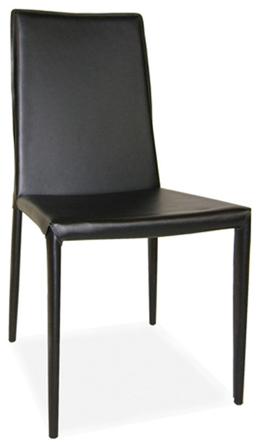 Lusso Dining Chair M2 Black Modern Dining Chairs By World Modern Design