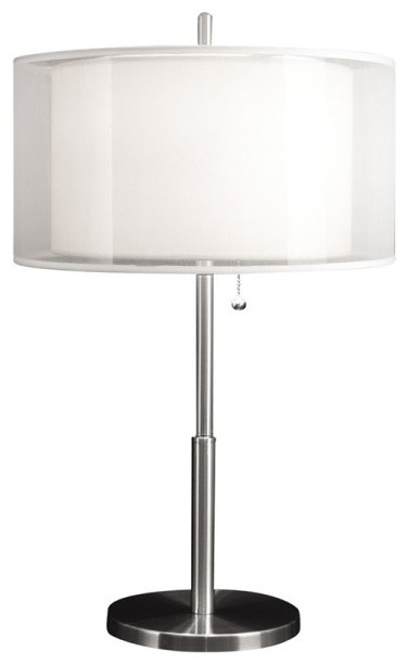 bedroom table lamps with white organza shade contemporary table lamps