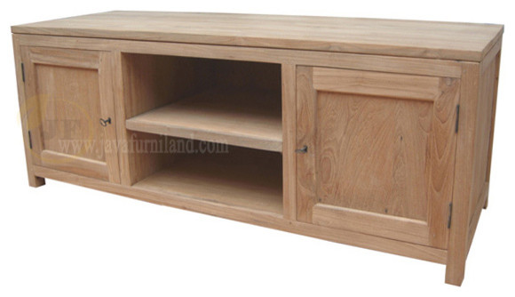 Solid Teak Wood Tv Stand Contemporary Buffets And
