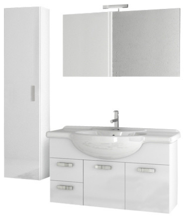 39 inch glossy white bathroom vanity set traditional bathroom vanities