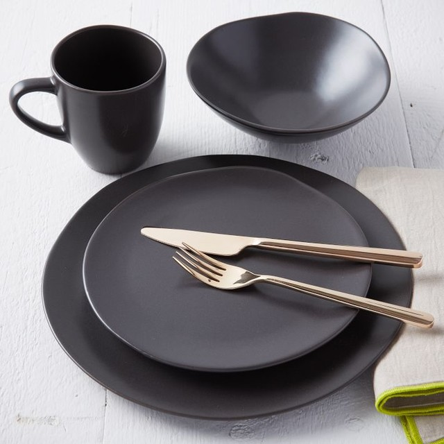 Scape Dinnerware Cocoa Set Of 4 Contemporary Dinnerware By West Elm