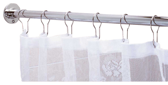 Shower Curtain Rods Bright Chrome 6 feet long Shower ...