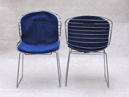 Drahtst hle im bertoia stil retro sillas de comedor for Sillas comedor retro