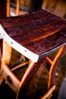 Wine Barrel Barstools No Back Furniture Orange