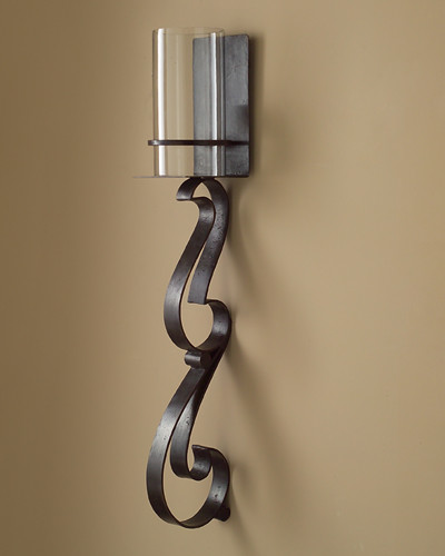 John Richard 42x7x7.5 Hand Forged Iron Wall Sconce - Contemporary - charlotte - by The Classy ...
