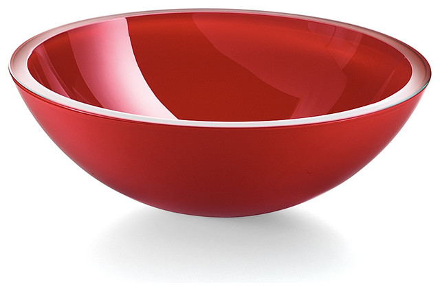 Luxury Vessel Red Glass Bathroom Sink - Contemporary - Bathroom Sinks ...