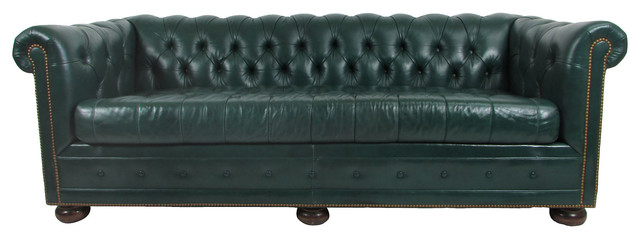 Leather Chesterfield Sleeper Sofa Contemporary Sofas