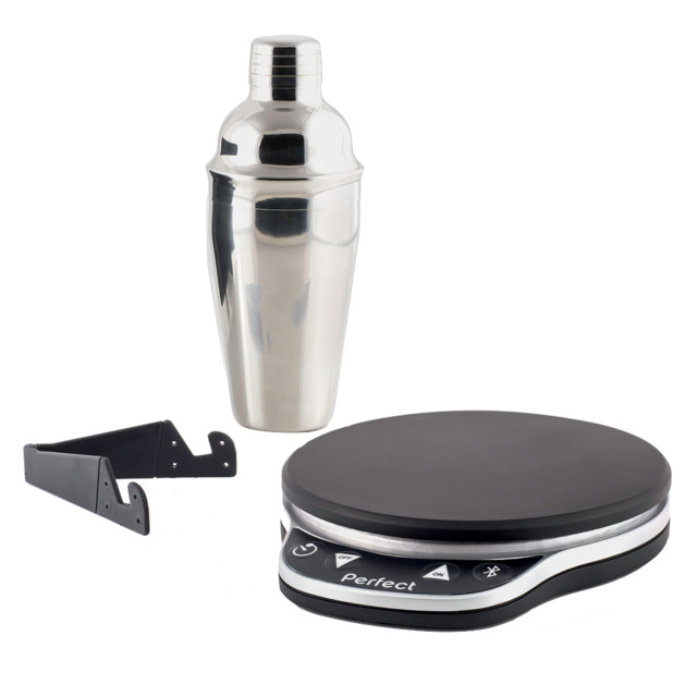 Drink 2 0 home bartender set modern cocktail shakers for Perfect kitchen pro smart scale and app system