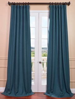 Spruce Heavy Faux Linen Curtain - Contemporary - Curtains - san francisco - by Half Price Drapes
