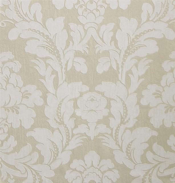 Everlasting Cream Wallpaper R2677, Double Roll