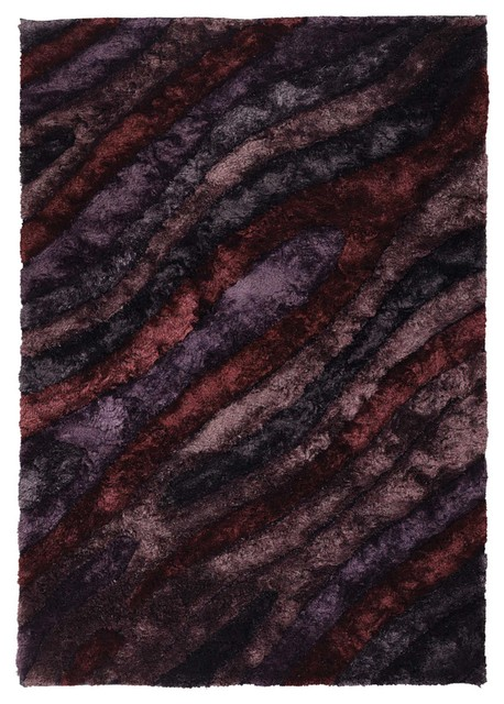 Purple plum maroon shag rug 5 39 x7 39 6 flemish fle 51103 for Purple area rugs contemporary