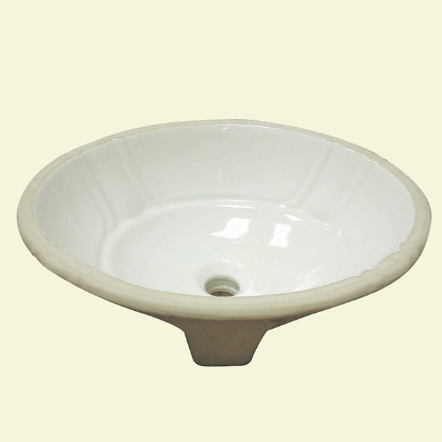 decorative undermount biscuit lavatory with overflow With decorative undermount bathroom sinks
