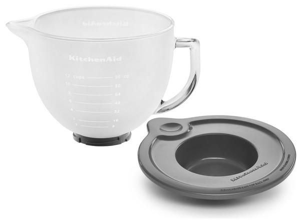 kitchenaid 5 qt tilt head frosted glass bowl with lid
