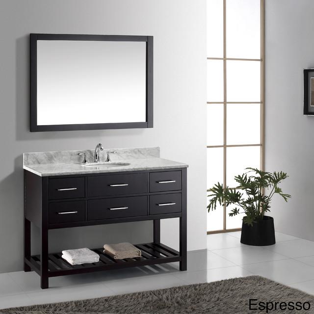 Virtu Usa Caroline Estate 48 Inch Single Sink Bathroom Vanity Set Contemporary Bathroom