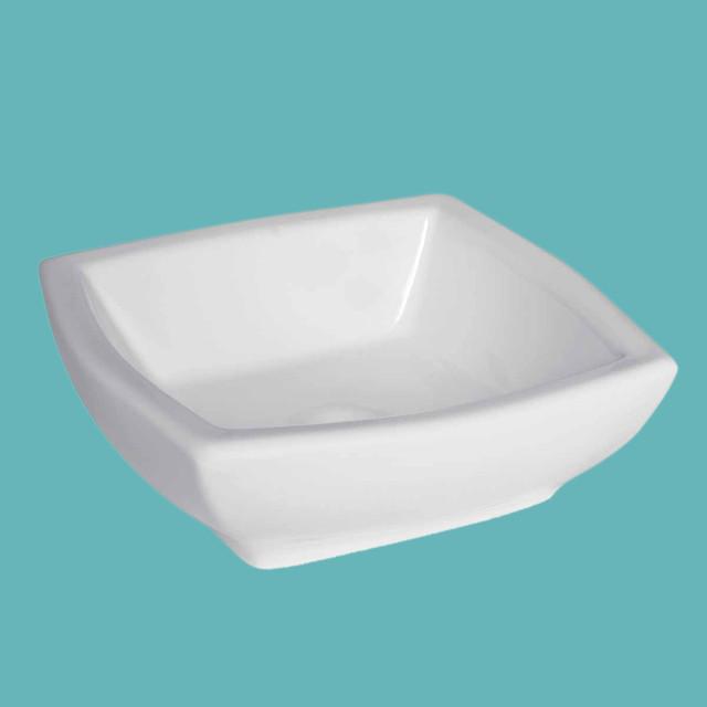 Vessel Sinks White Square Bathroom Sink Metro Vessel Sink 15351 ...