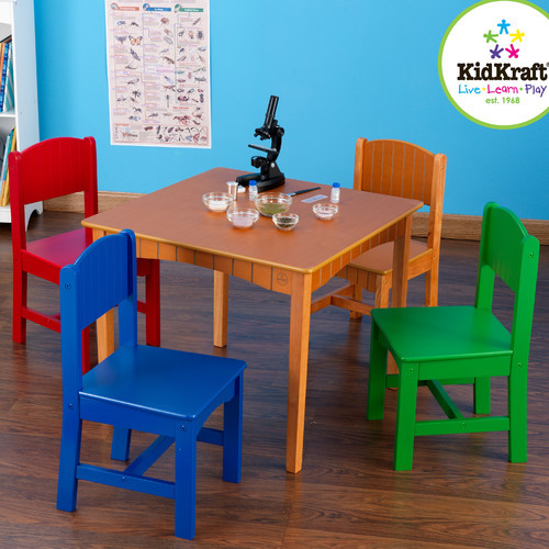 Nantucket kids 5 piece table and chair set modern baby and kids