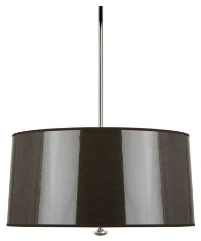 Robert Abbey T808 Penelope 3 Light Pendant With Taupe