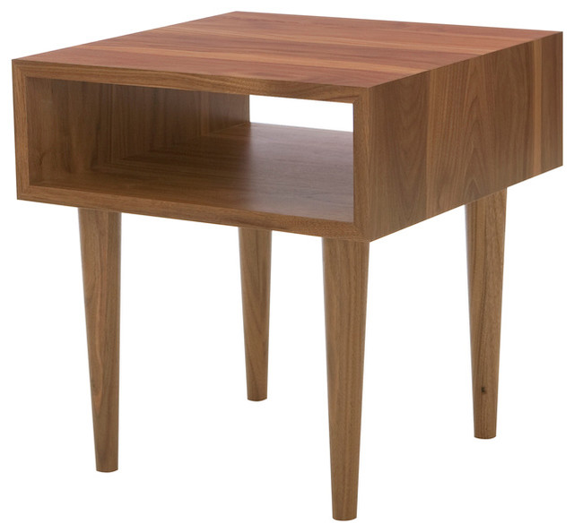 Classic Side Table Walnut Midcentury Side Tables And
