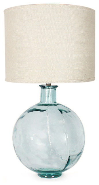 Recycled glass table lamp uk best inspiration for table lamp recycled glass ball lamp transitional table lamps aloadofball Choice Image