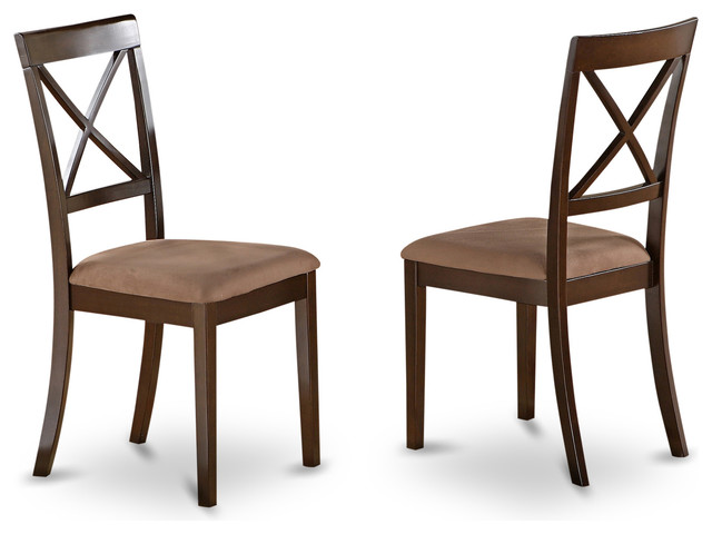 Set Of 2 Boston X Back Dining Chair Transitional Dining Chairs By Dinet