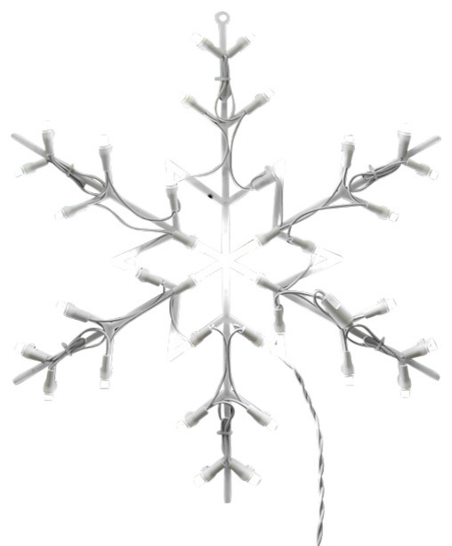 16 Lighted Snowflake Christmas Window Silhouette Decoration Of Lighted Led Snowflake Christmas Window Silhouette