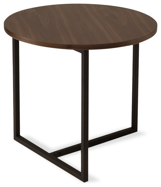 turner walnut round end table modern side tables end tables