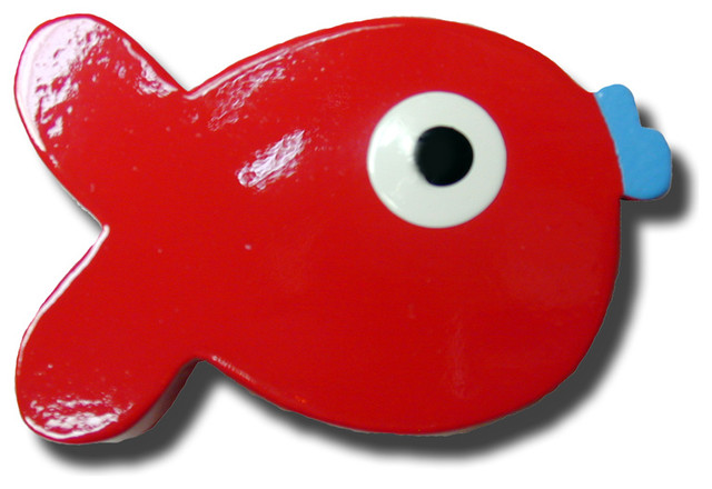 Puffer Fish Red Drawer Pull - Modern - by Rosenberry Rooms