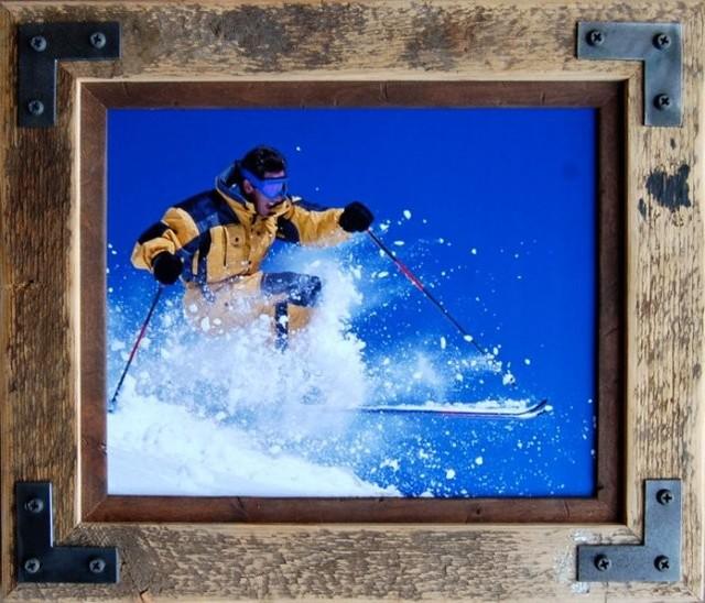 Rustic Frame 24x36 Distressed Barn Wood Frame Metal