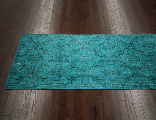 transitional colour 3 39 x10 39 rectangle turquoise area rug