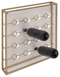 Gwg Outlet Metal Acrylic Wine Holder X Wine Racks By Gwg