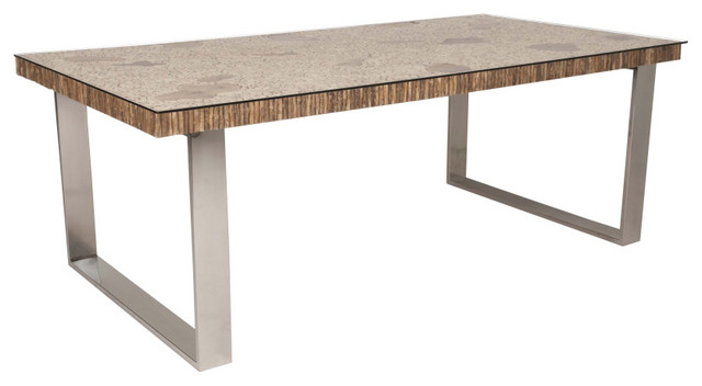 Rectangle 80 5 length coffee tree dining table for Traditional dining table uk