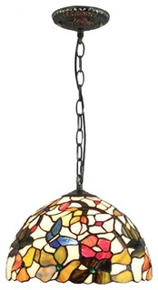Tiffany Home Pendant Lighting With Stained Glass Shade