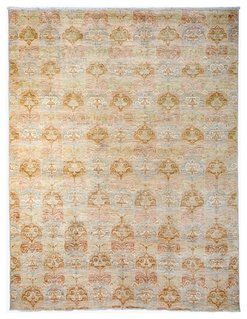 Oushak Wool Area Rug Ivory 6x9 Transitional Area